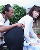 Slim mature is in for a wild outdoor interracial fuck