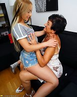 Hot mature gets properly licked by lesbian daughter