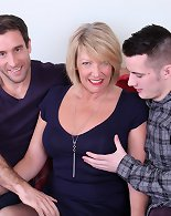 Two curvy dudes doing naughty British wife