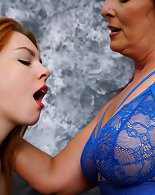 Hot babe Candy practises the art of seduction on older Beau