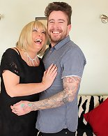 Chubby mature lady her younger lover